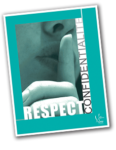 Affiche respect confidentialité
